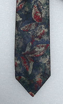 Leaf tie multi-coloured Chig by Michelsons Vintage 1970s
